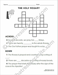 Holy Rosary Crossword Puzzle EZ (Large Print)