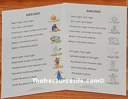 Silent Night Lyrics Sheet Set