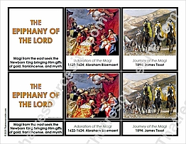 Epiphany of the Lord 3-Part Montessori Card Set