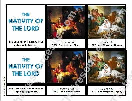 Nativity of the Lord 3-Part Montessori Card Set