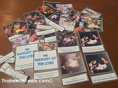 Nativity of the Lord 3-Part Montessori Card Set for Kids