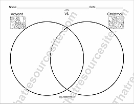 Advent and Christmas Venn Diagram Worksheet