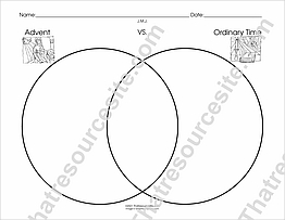 Advent and Ordinary Time Venn Diagram Worksheet