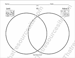 Lent and Advent Venn Diagram Worksheet