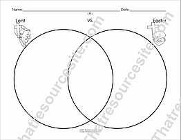 Lent and Easter Venn Diagram Worksheet