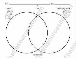 Lent and Ordinary Time Venn Diagram Worksheet
