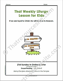 That Weekly Liturgy Lesson for Kids – 21st Sunday of Ordinary Time (Cycle B)