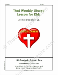 That Weekly Liturgy Lesson for Kids – 13th Sunday of Ordinary Time (Cycle B)